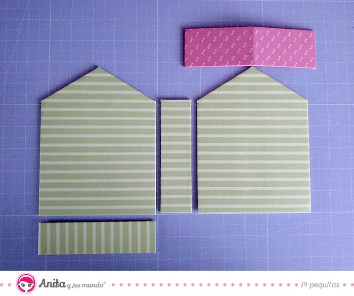 medidas para hacer una casa de carton