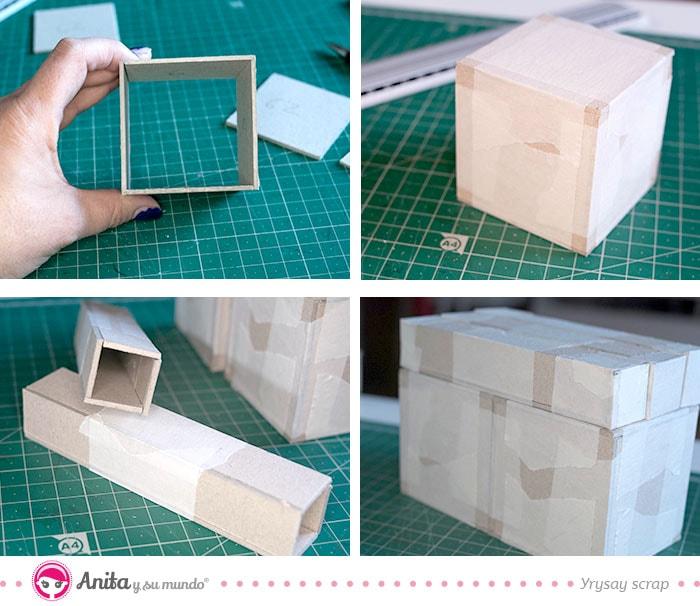 paso a paso para montar una caja de carton
