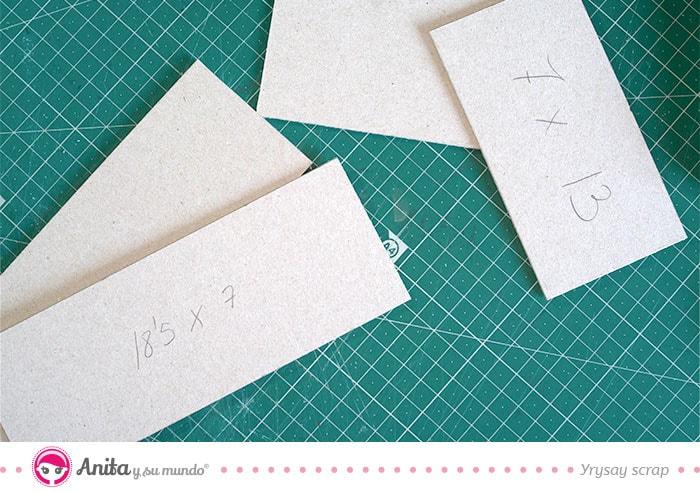 piezas laterales para hacer calendarios