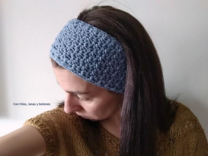 Con hilos, lanas y botones: Cinta aperta - cinta ancha para el pelo (patrón gratis)