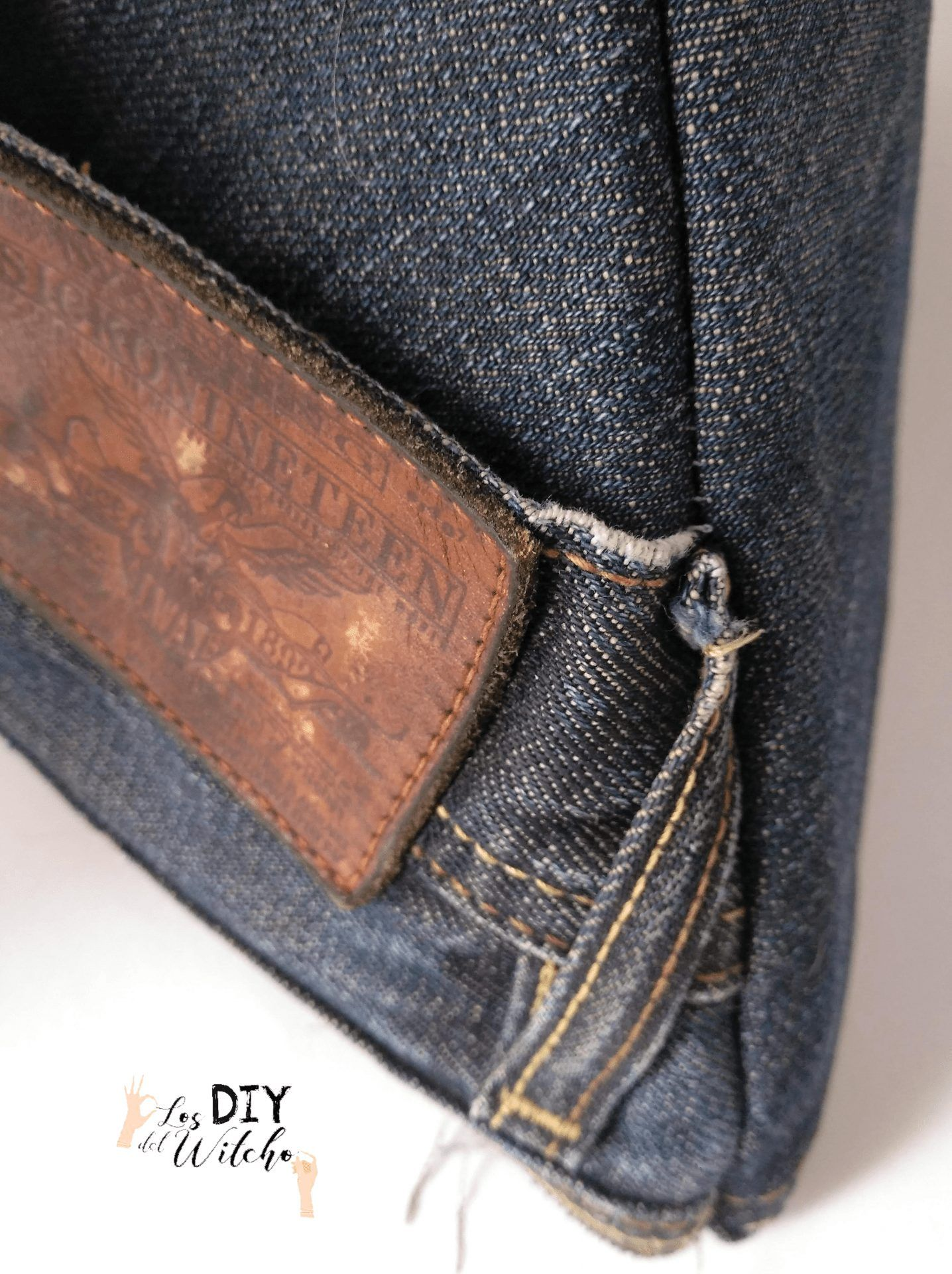 bolso triangular bolsillo