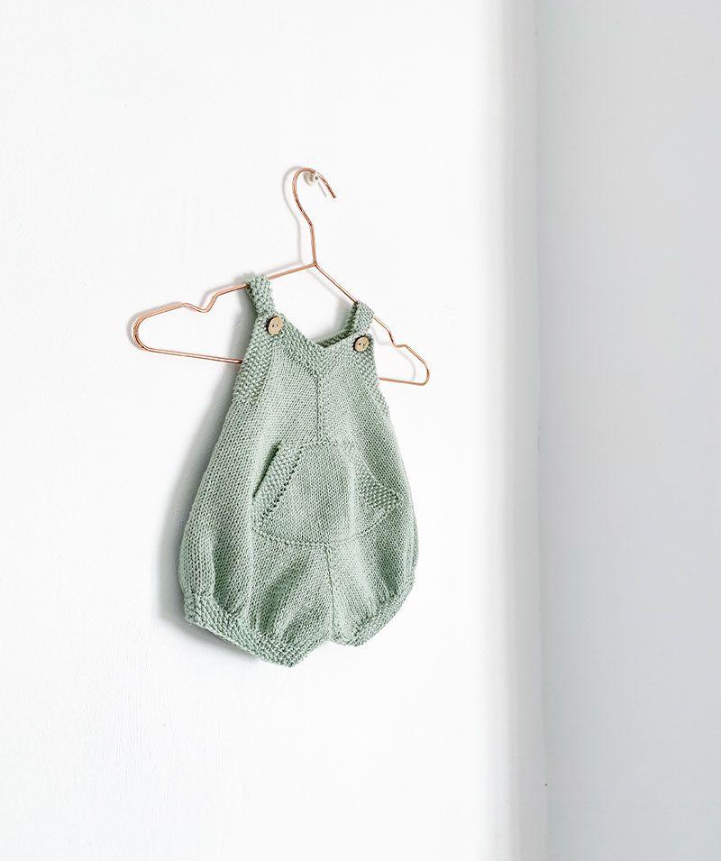 Cómo tejer el Pelele de Punto Pickles de bebé - Patrón y Tutorial -