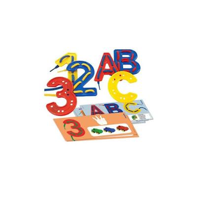 Letras y números de plástico colegio