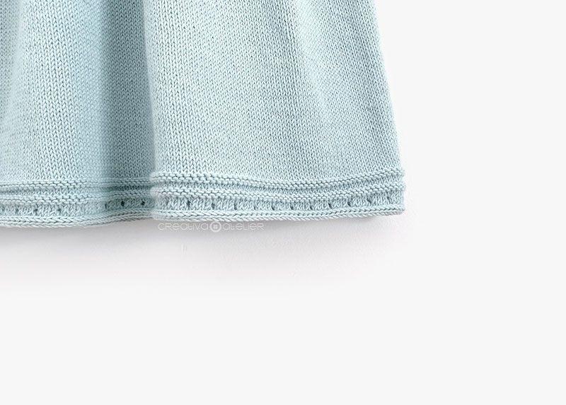Cómo tejer el vestido de punto para niña y bebé SEASIDE - Patrón y Tuorial Paso a Paso. Bajo del vestido
