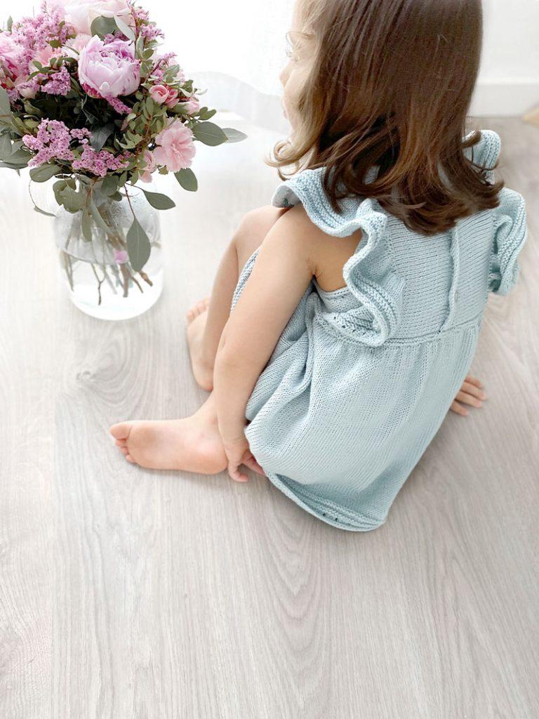 Cómo tejer el vestido de punto para niña y bebé SEASIDE - Patrón y Tuorial Paso a Paso