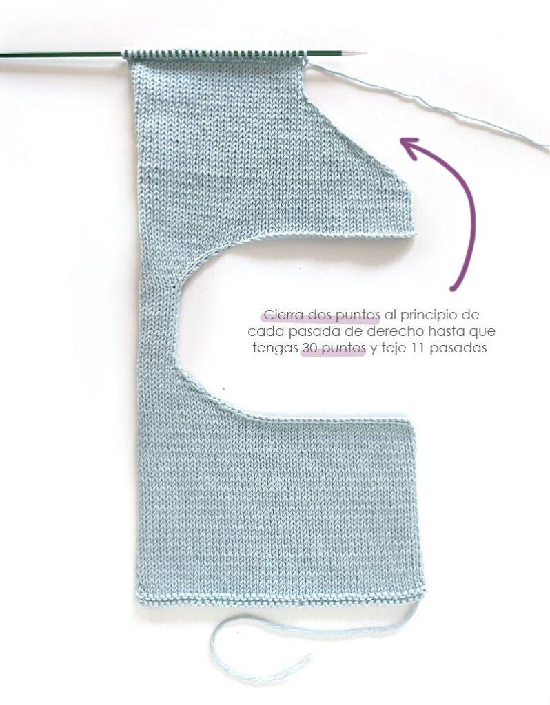 Cómo tejer el vestido de punto para niña y bebé SEASIDE - Patrón y Tuorial Paso a Paso- Teje el cuerpo del vestido