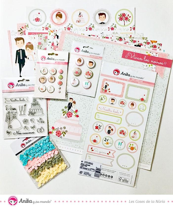 colección de boda scrapbooking