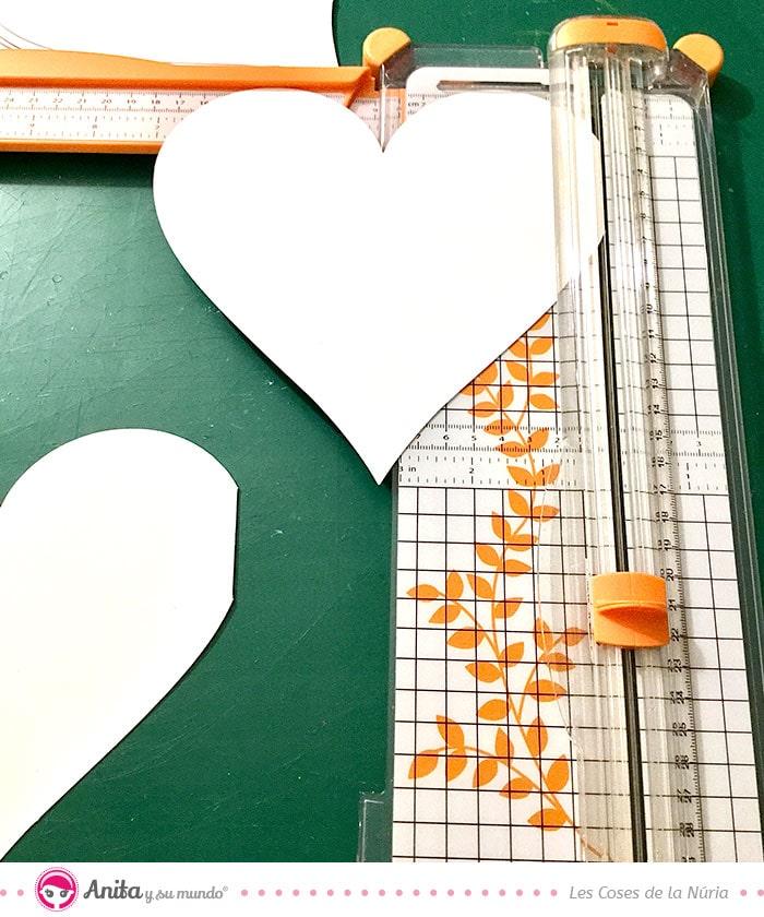 como encuadernar album con forma de corazon