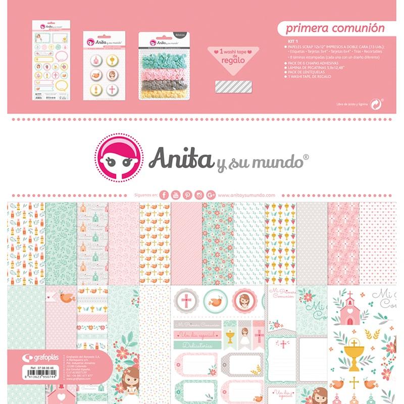 kit bolsa scrapobooking comunión niña - referencia: 37080646