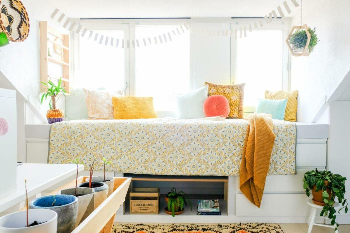 Crear una cama con la cómoda Malm de Ikea