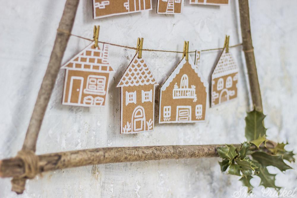casitas de navidad reciclando carton