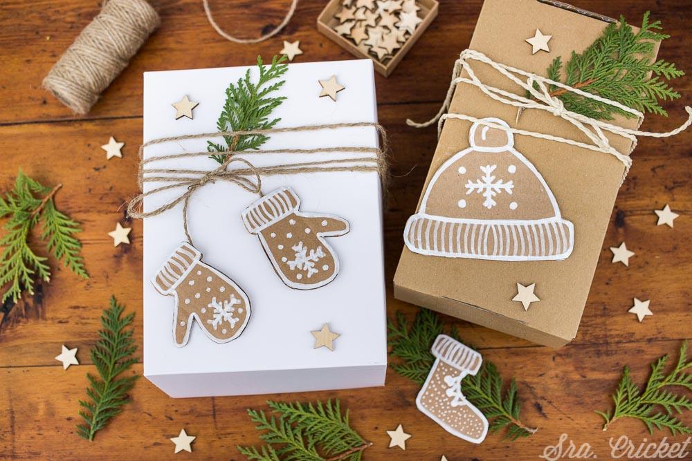 envolver regalos en navidad de forma original handmade DIy