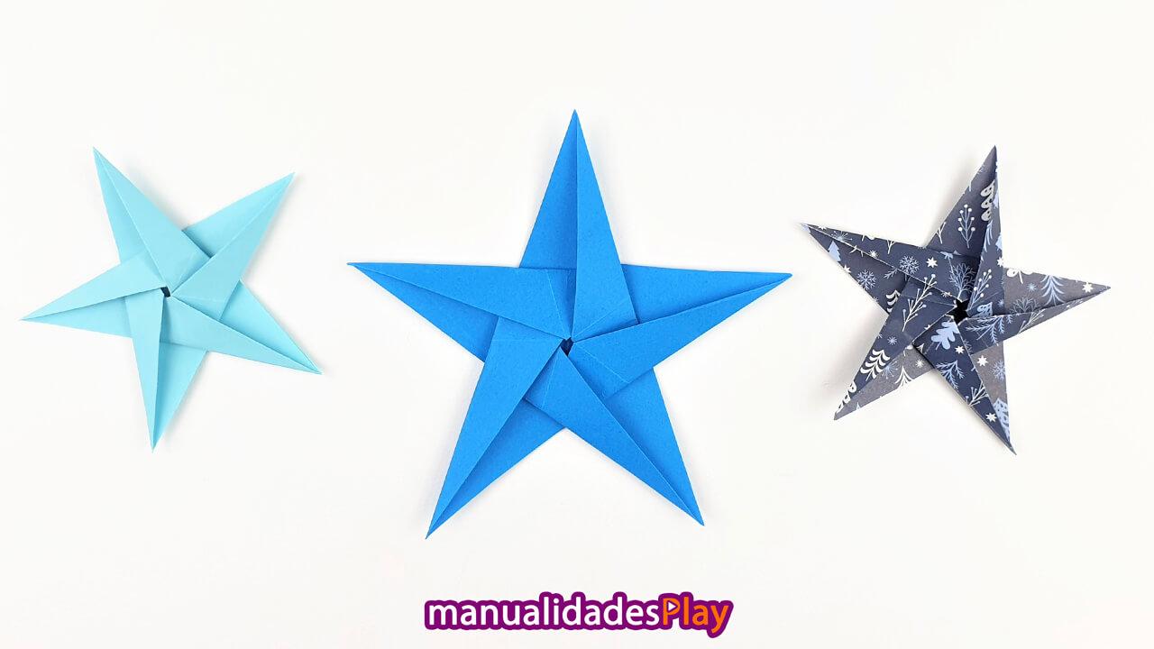 Estrellas de origami de 5 puntas