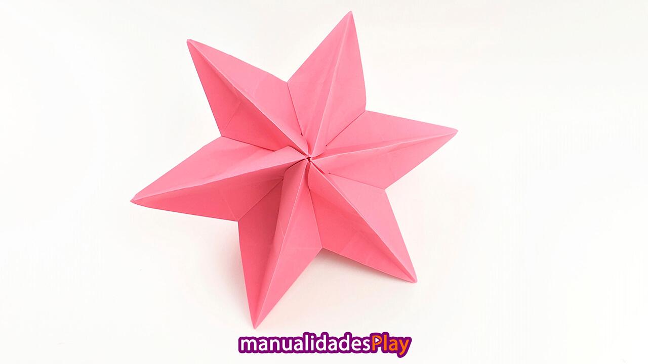 Estrella de papel 3d de 6 puntas
