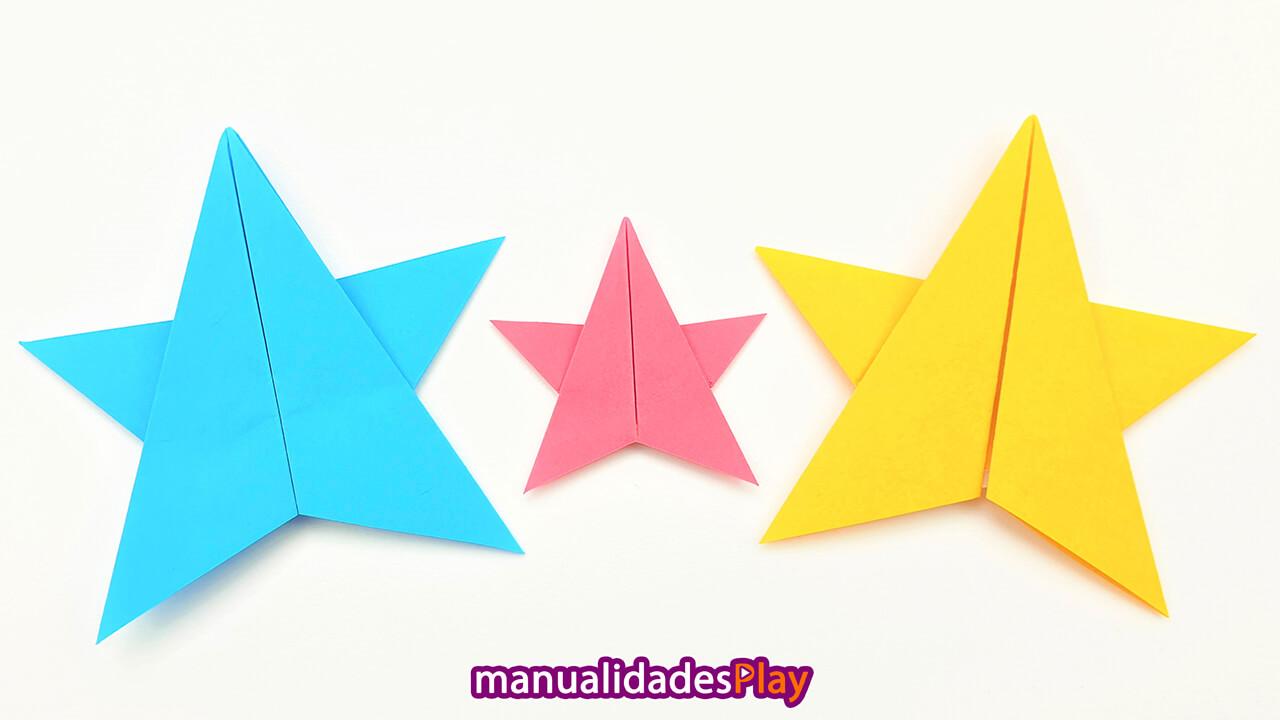 Estrella de papel de 5 puntas fácil de hacer