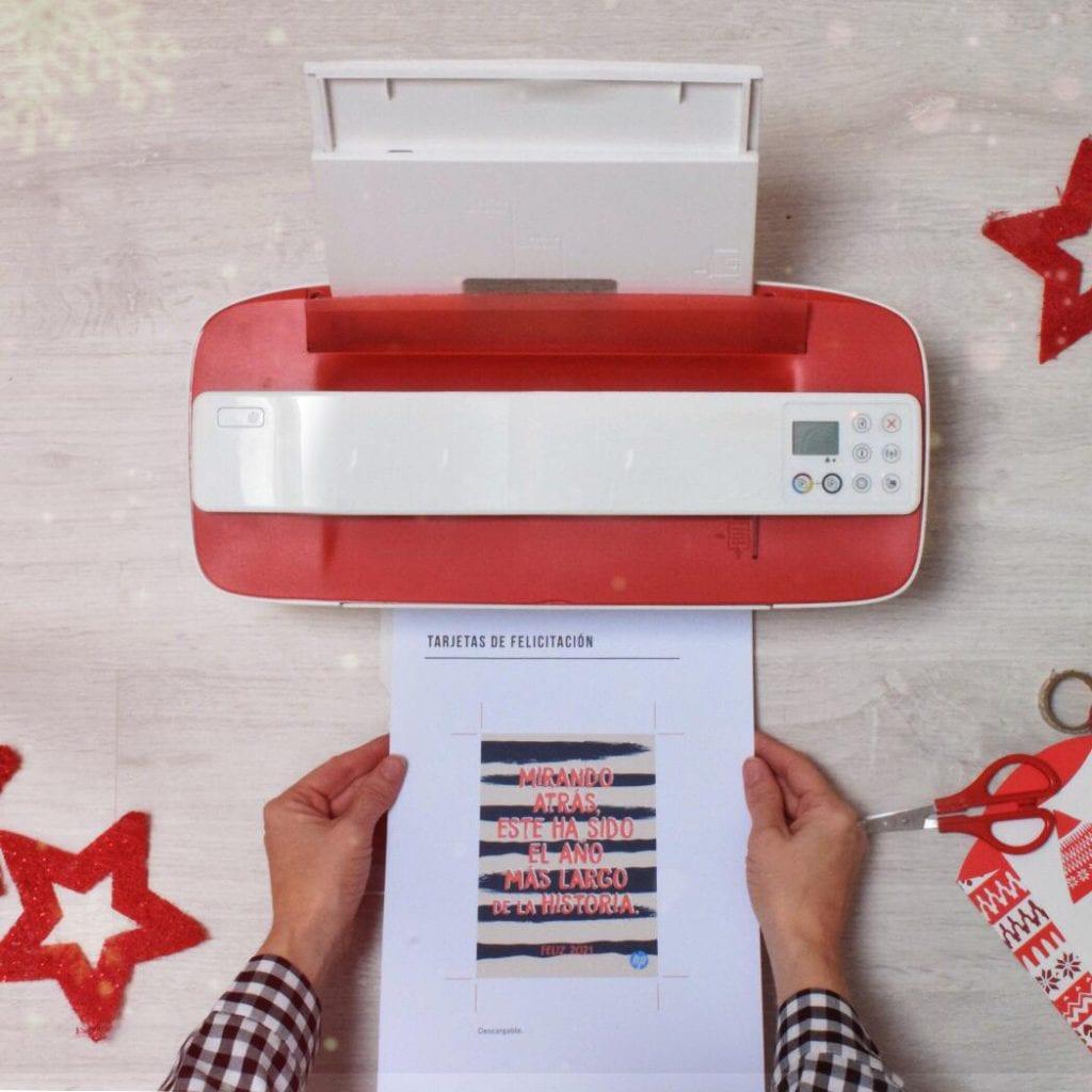 postal navideña handbox