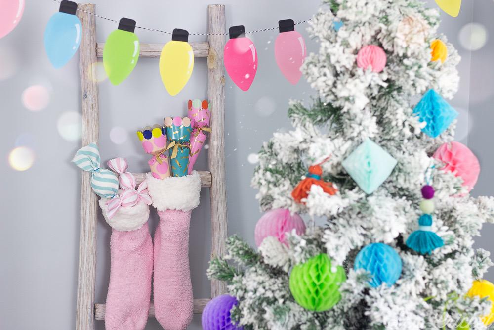 decoracion navidad colorida