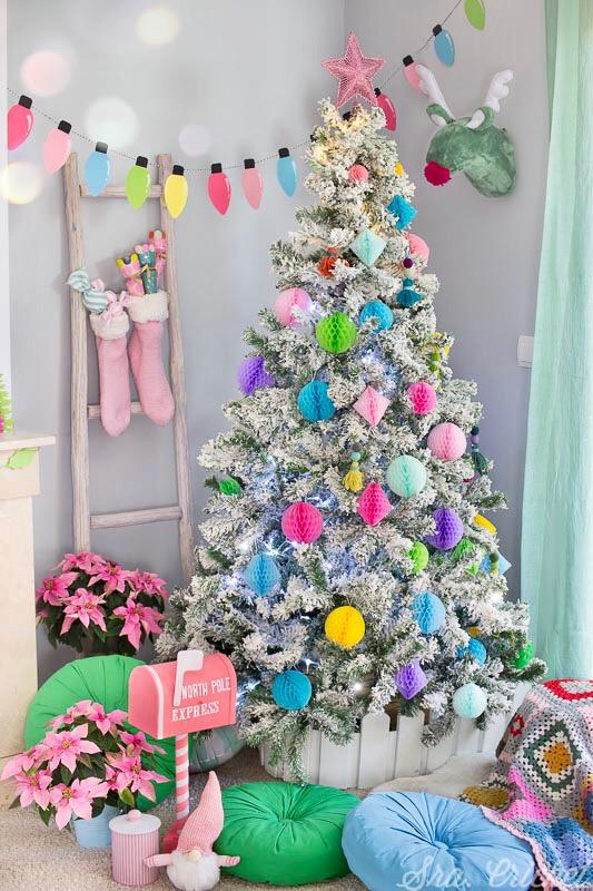 decoracion de navidad original colores