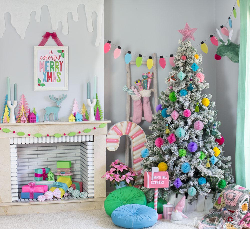 decoracion navideña multicolor original