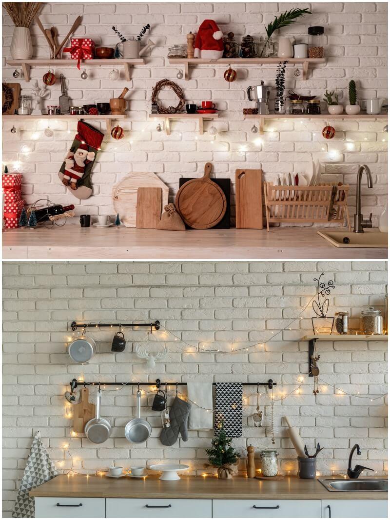 adornar la cocina en Navidad