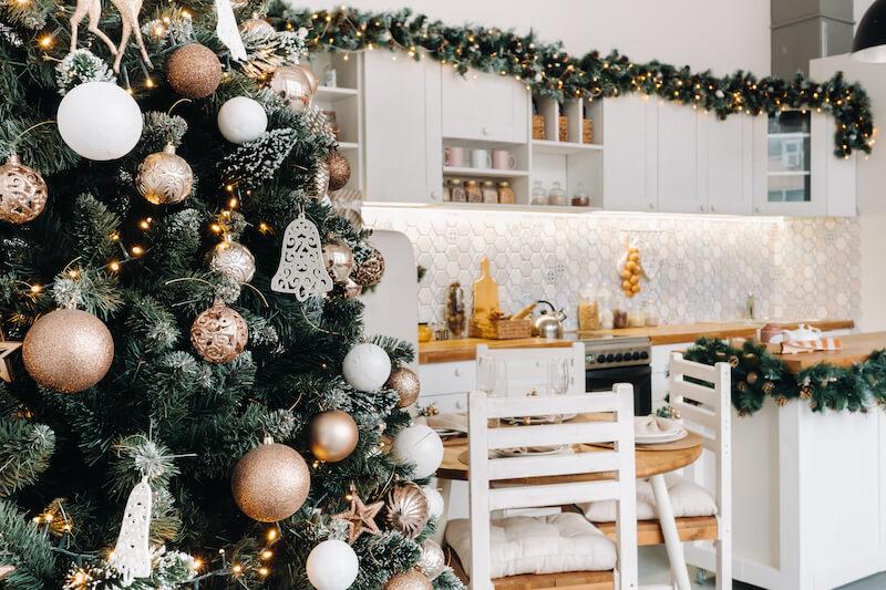 cómo decorar la cocina en Navidad