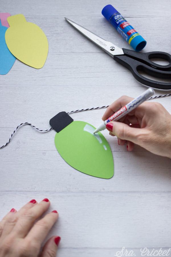 luces navidad de papel tutorial diy