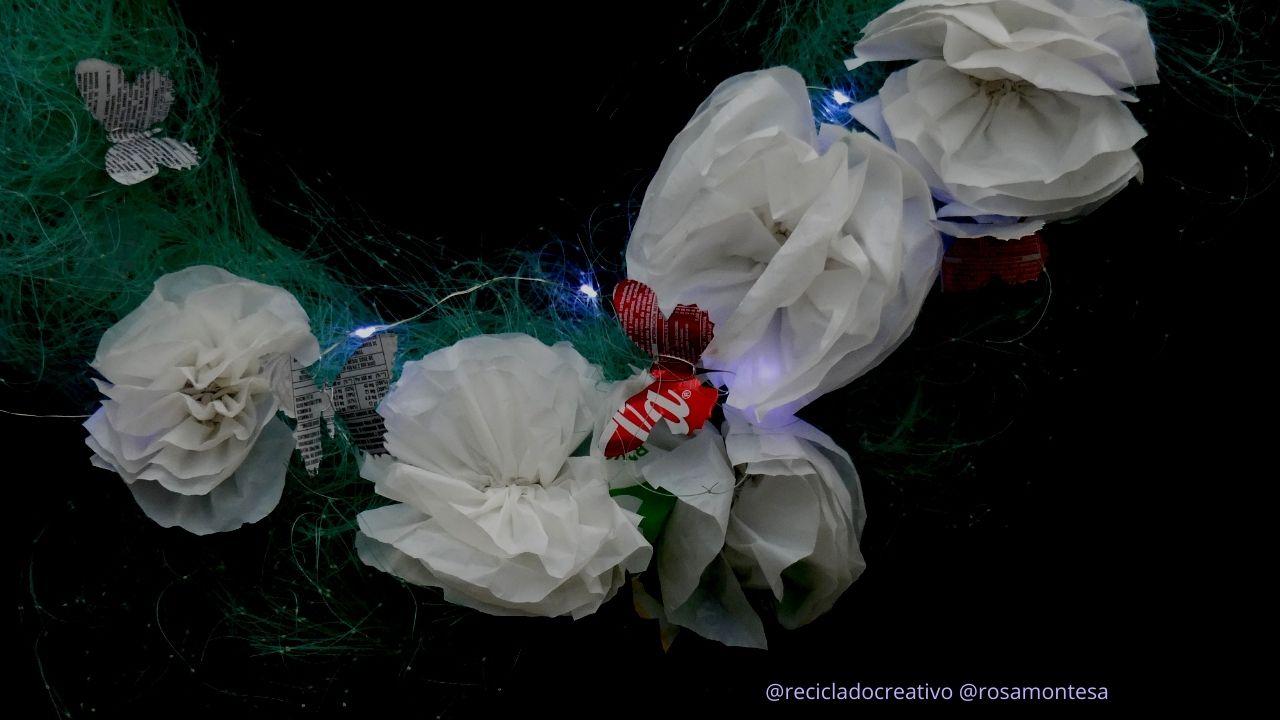 Navidad reciclando basuras marinas