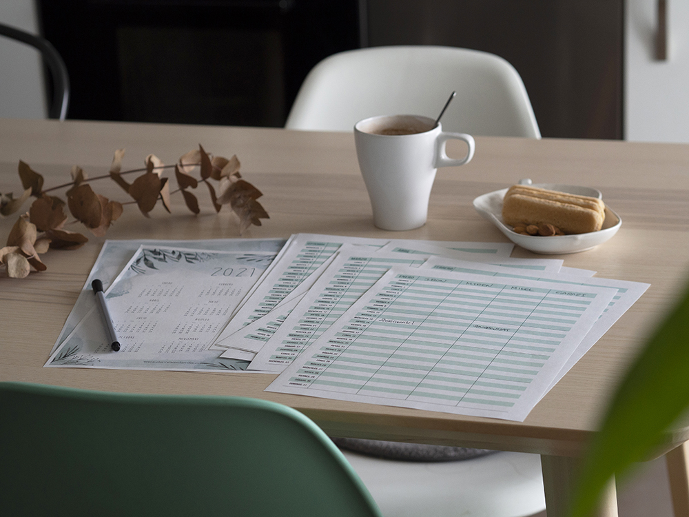Descargable Planificador familiar + calendario 2021