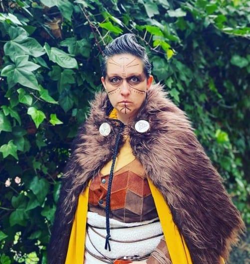 disfraz de guerrera