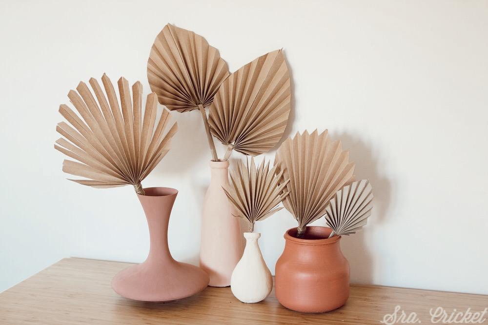 como hacer hojas de palma de papel