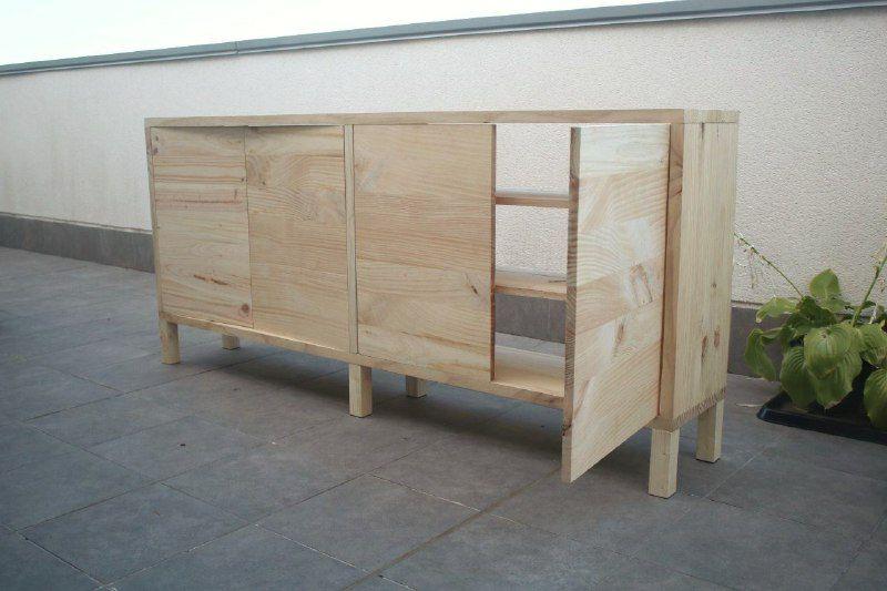 Mueble tv madera DIY