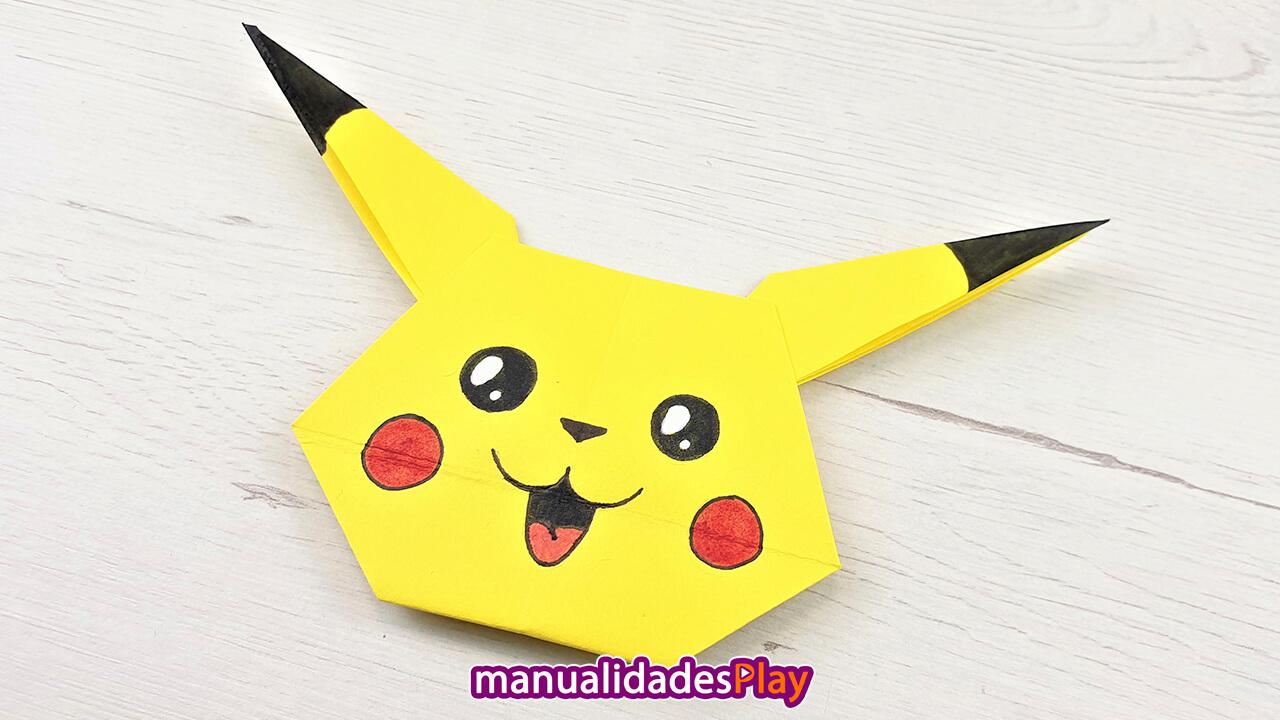 Cara de pikachu de papel fácil de hacer con tutorial de manualidades play