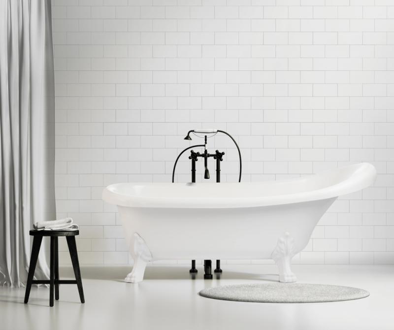Bañera de patas para un spa en casa