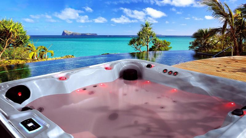 Spa en casa con una bañera de hidromasaje