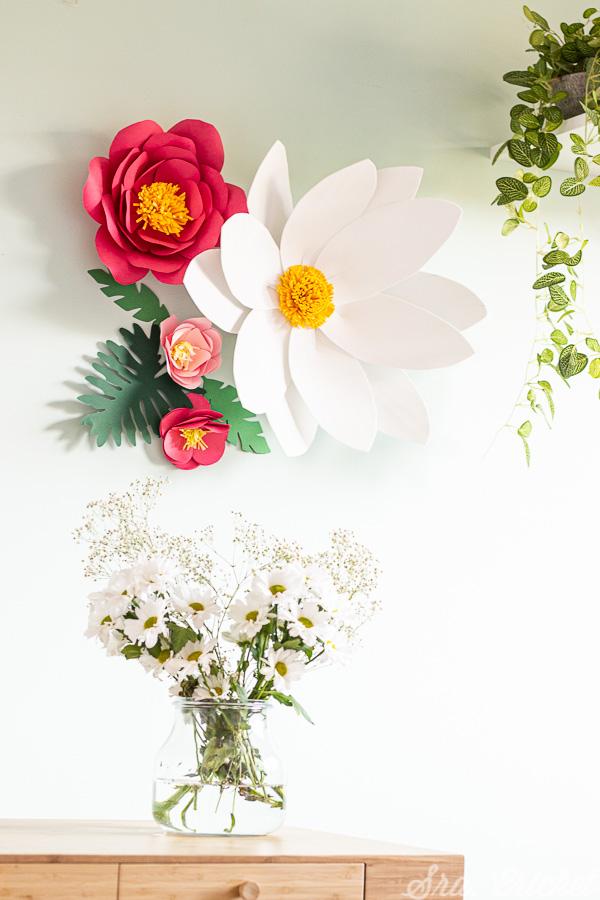 como hacer flores de papel gigantes tutorial de manualidades