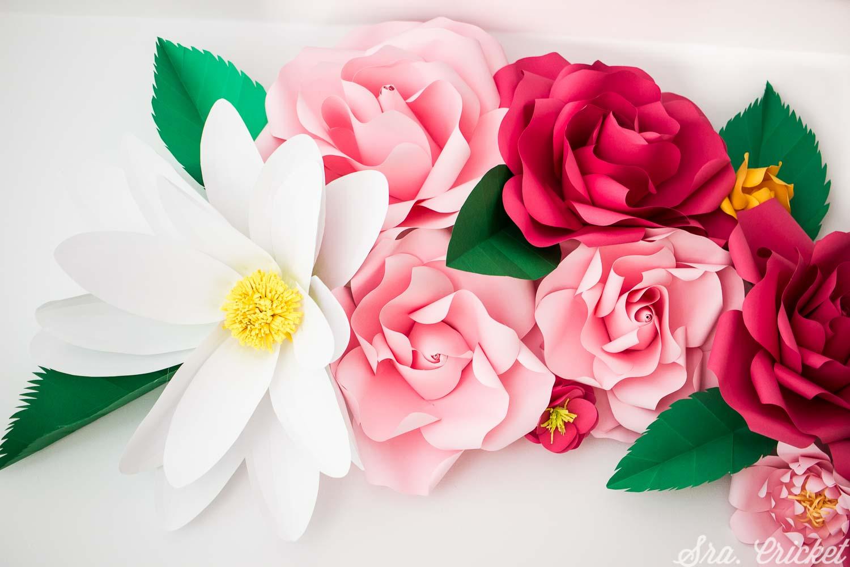 flores de papel gigantes tutorial manualidades