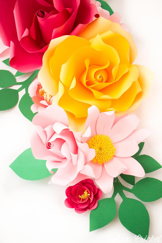 flores de papel manualidades tutorial