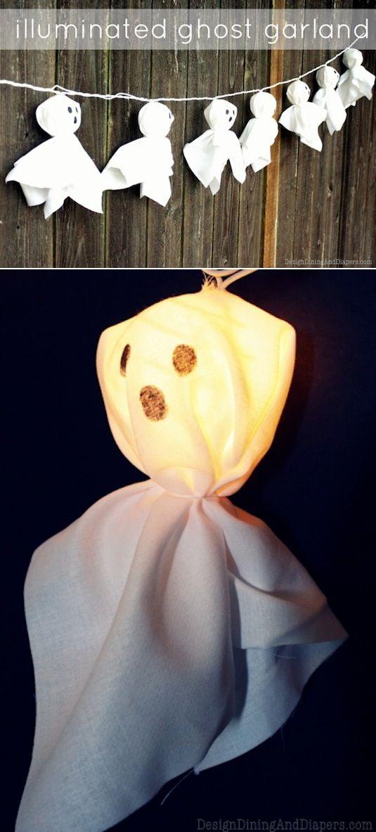 Fantasmas con luz para Halloween