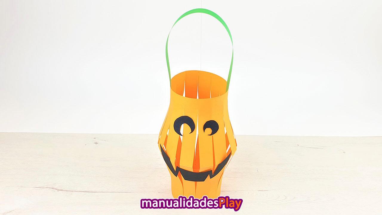 Farolillo enforma de calabaza para Halloween