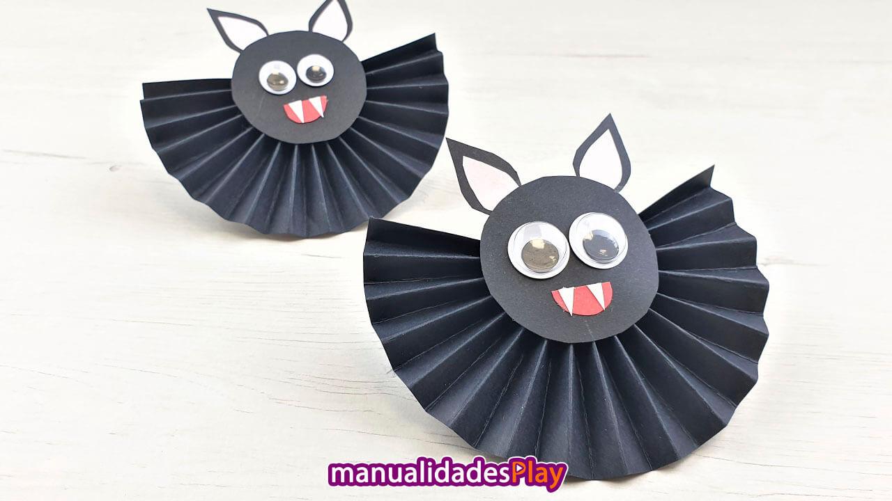 Murciélagos con cartulina fáciles de hacer
